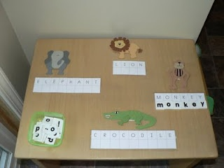 Zoo Theme possible teacch activity