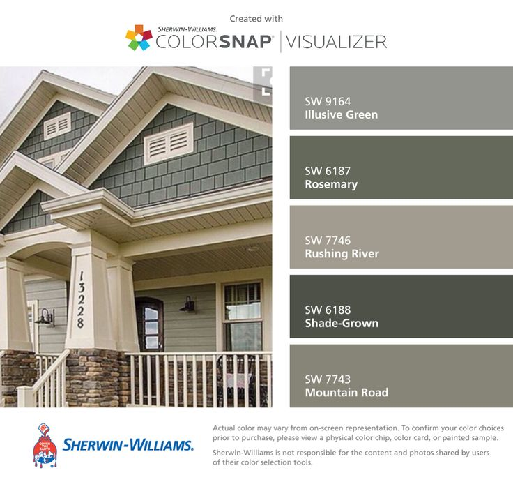 exterior house color combination. i found these colors with colorsnap® visualizer for iphone by sherwin-williams: illusive exterior house color combination