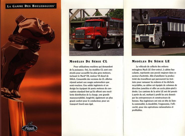 Mack - La Gamme des Bouledogues 1997; truck brochure | by worldtravellib World Travel library - The Collection