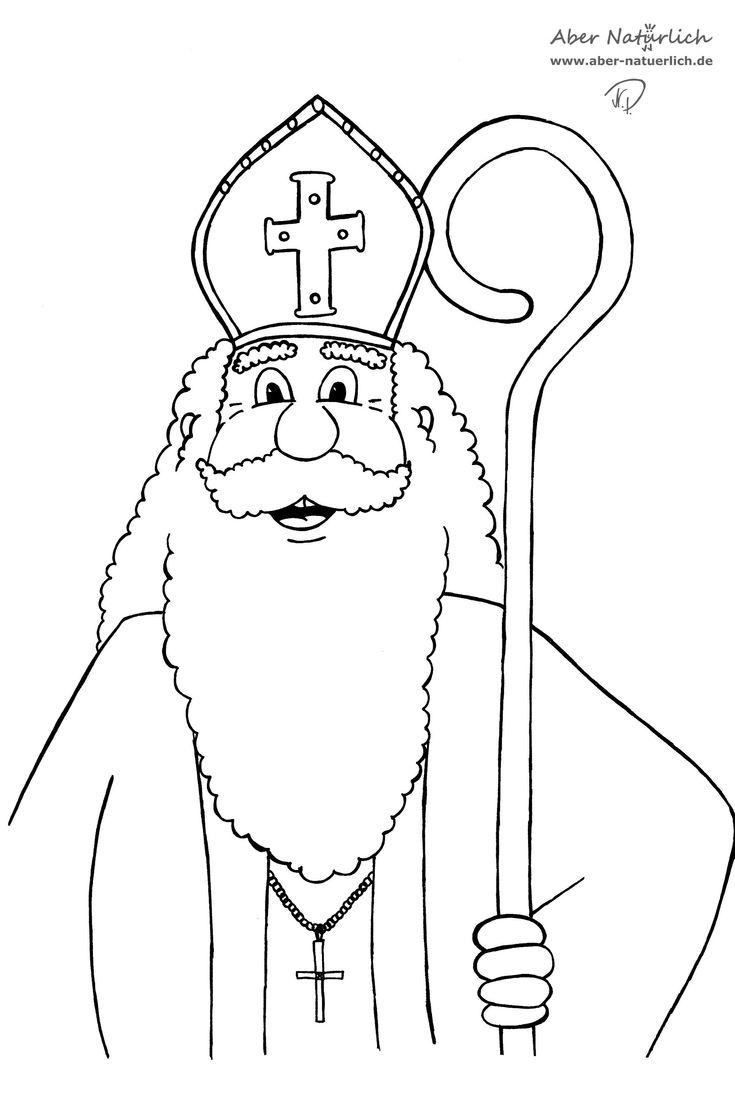 Ausmalbilder Nikolaus Saint Nicholas kostenlos malvorlagen Ausmalbilder Nikolaus Saint Nicholas Ausdrucken für kinder