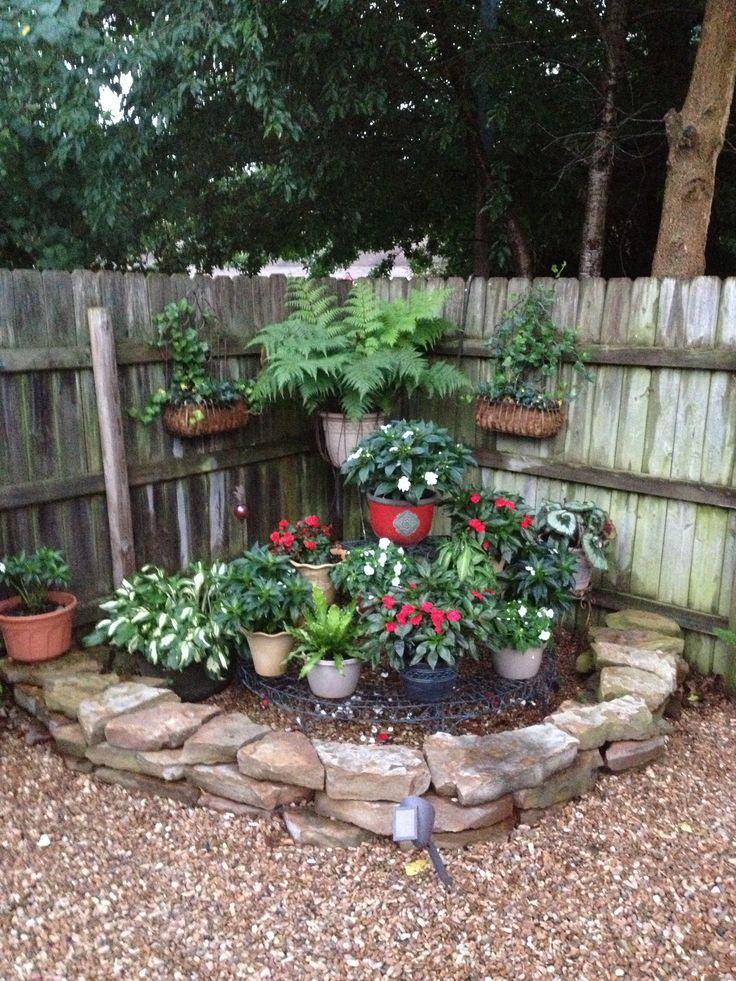 Corner shade garden . | My Happy Place | Garden yard ideas ...