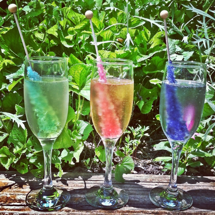 Some Rock Candy champagne for your Friday morning!  alcohol + candy….a killer combo.   TGIF!