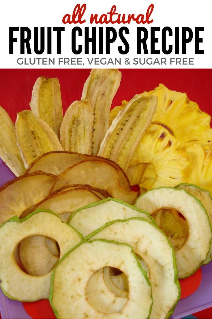 Natural Fruit Chips Recipe in the Dehydrator – Gluten Free & Vegan via @aLittleInsanity