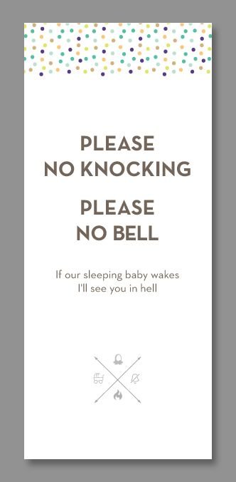 I've teamed up with LectroFan and designed some fun (and effective) do-not-disturb door hangers.