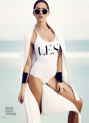 Maggi Caruthers for ELLE Bulgaria August 2013