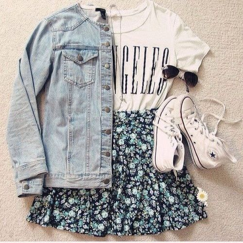 Cute light skater outfit for summer