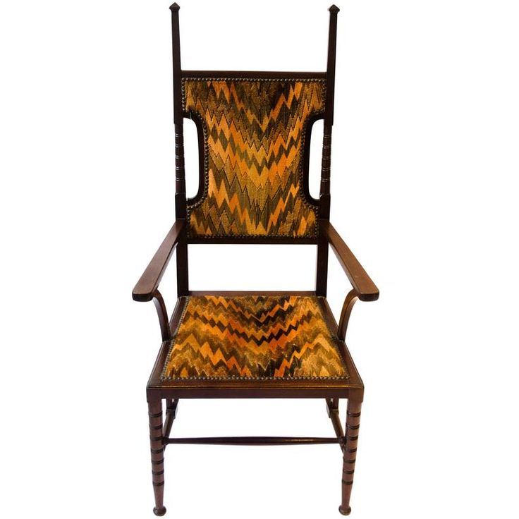 Arts and Crafts Mahogany Armchair Attributed to Liberty and Co. 1