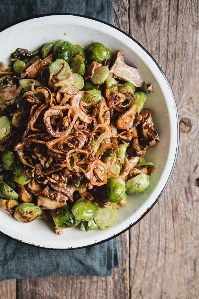 Creamy Brussels Sprouts with Wild Mushrooms | The Modern Proper
