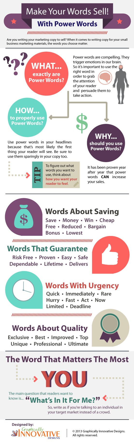 Getting people to notice your content is a mastery that takes experience to fully comprehend. This power words infographic will help you find the shortcuts.