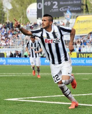 El chileno Arturo Vidal juega en la Juventus desde julio 2011.