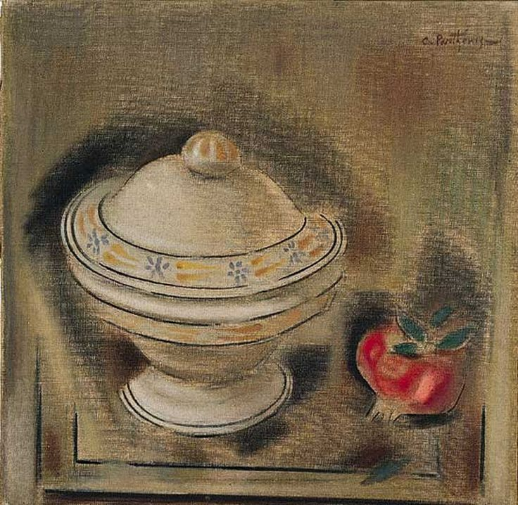 Constantine Parthenis-Still Life with Pomegranate, 1909 -1914
