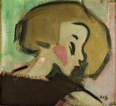 """Omenatytto"" by Helene Schjerfbeck"