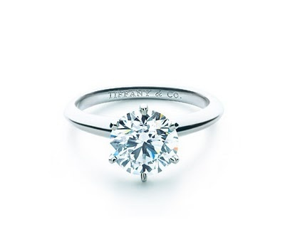 The Tiffany Setting: Solitaire, 6 prong presentation setting.