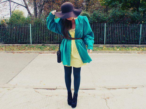 Wasze zielone stylizacje - Martiarti!  :).  Do #konkursu na #najlepsza #stylizacja zaprasza www.big-active! Płaszcz w cudownym kolorze uszyty przeze mnie.