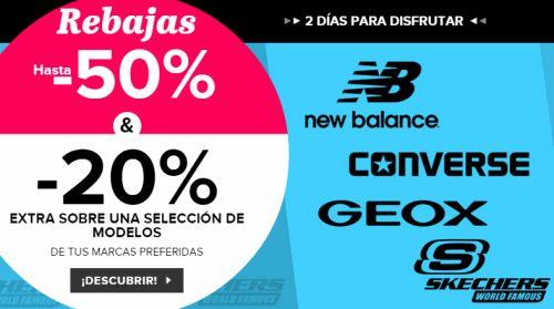 ¡¡CHOLLO!! Zapatos de marca con hasta 60% de descuento con envío y devolución gratis en marcas Geox, New Balance, Converse, Nike y Skechers.No te lo pierdas