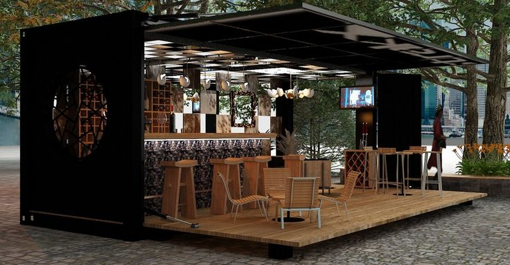 bar furniture made from shipping containers - Google Search