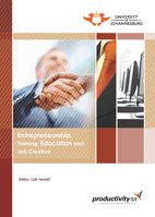 The papers included in this book were taken from the proceedings of the University of Johannesburg, Faculty of Management, Department of Entrepreneurship, 2010, Entre- preneurship Training, Education and Job Creation Conference. These papers address some of the issues in terms of entrepreneurship training, education and job creation.