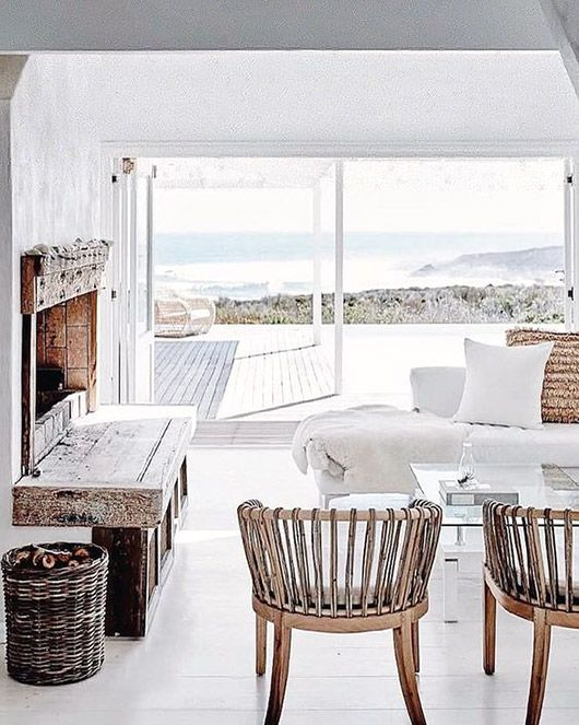 moroccan details in white beachy living room. / sfgirlbybay