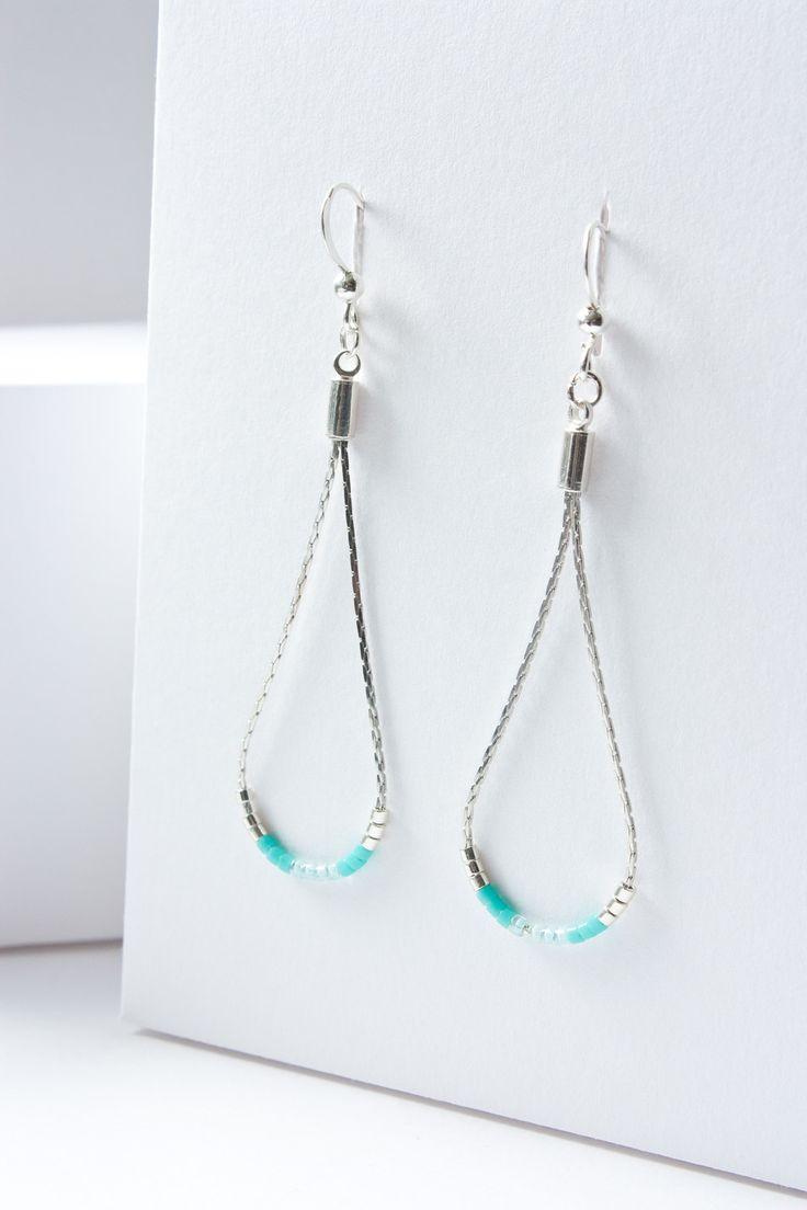 Idée cadeau Fête des Mères - Boucles d'oreilles perles miyuki / PLAQUÉE ARGENT 925