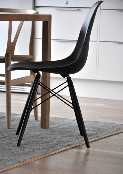 Surrounded by Nordic brands.Wegners wishbone Chair & Design House Stockholm rug.