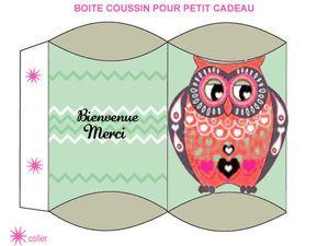 FREE printable owl favor box