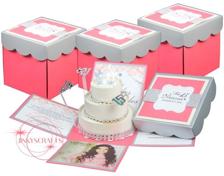 249 best EVERYTHING Mis Quince  Quinceanera images on Pinterest - fresh invitation box