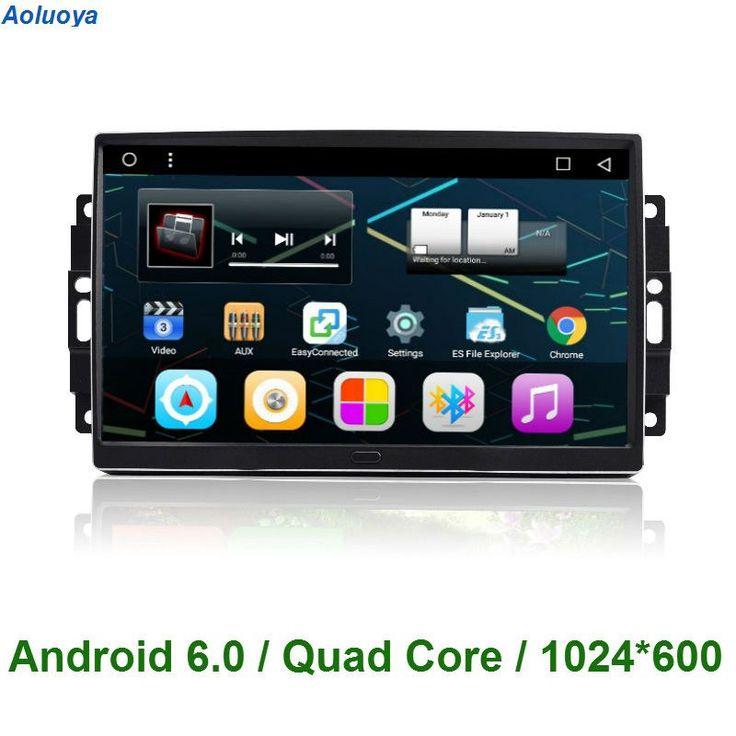 Aoluoya Android 6.0 CAR DVD GPS Navigation For Chrysler 300C Jeep <font><b>Cherokee</b></font> Commander Compass Wrangler Dodge Journey 2004-2008