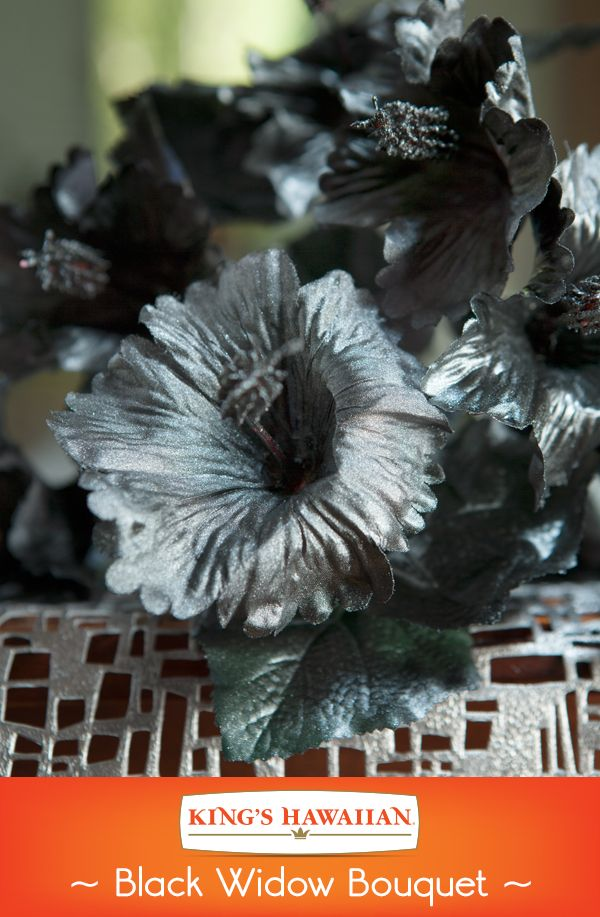 Metallic, black paint can make any silk flower funeral-worthy.