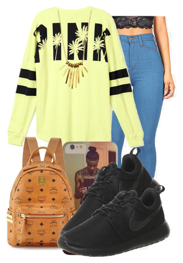 """""""."""" by ray-royals ❤ liked on Polyvore featuring Victoria's Secret, MCM and NIKE"""