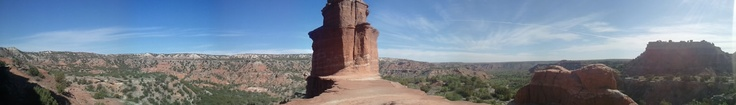 Palo Duro Canyon 6 mile Lighthouse Trail. Got to the top in 40 minutes today. Proud of myself & well worth it despite the rattlesnake on the trail.