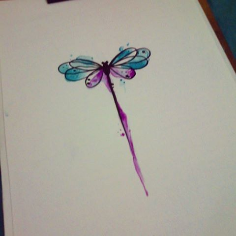 Gorgeous watercolor dragonfly!