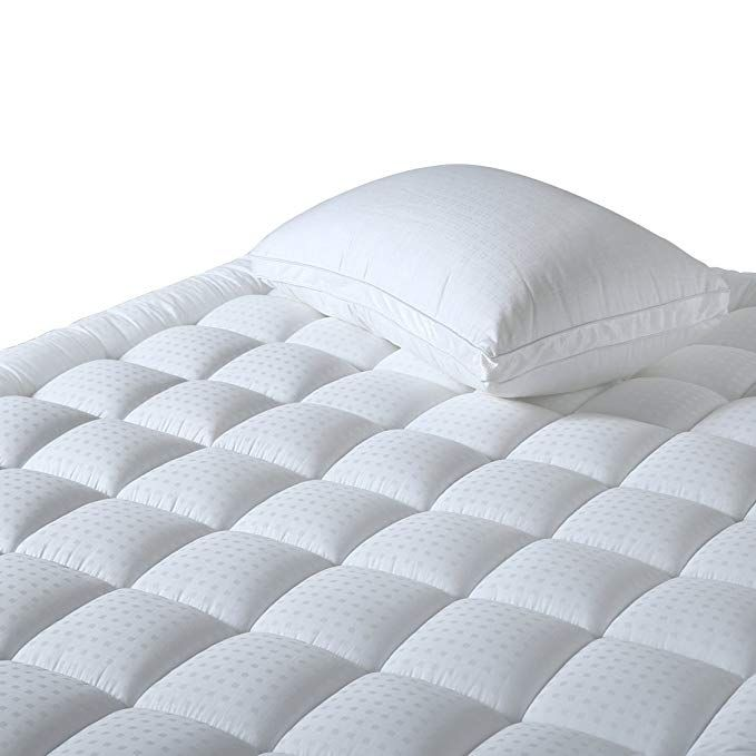 Risar Quilted Fitted Mattress Pad Cover Twin Thickening Cotton Bedspread Cooling Mattress Topper Anti Bacterial And Mattress Mattress Pad Mattress Pad Cover