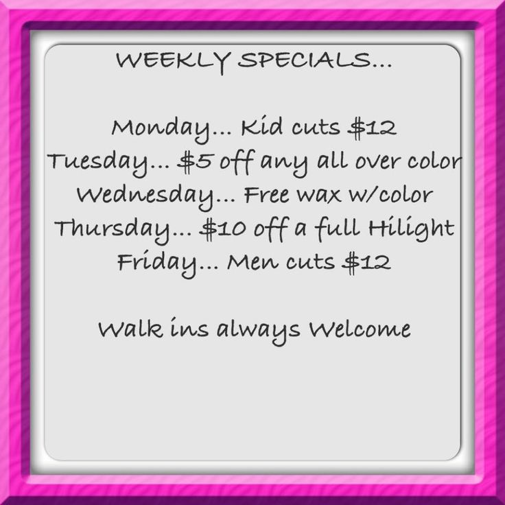 Make yourself wonderful and avail Hair Trenz Salon's weekly specials! #KentsDeals