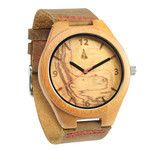 Tree Hut Black Wood Watch | This wooden Tree Hut watch has genuine black leather bands and is handmade in San Francisco from real wood with available engraving.
