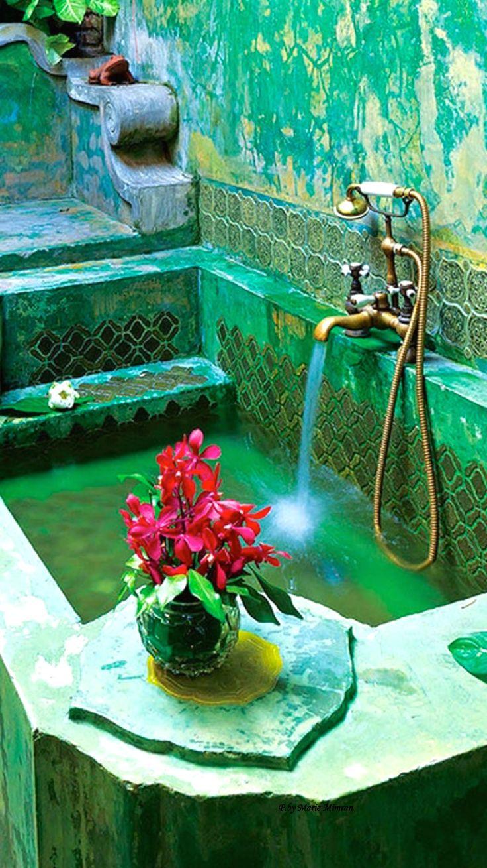 Moroccan bathroom decor - Moroccan Luxury Bathroom More