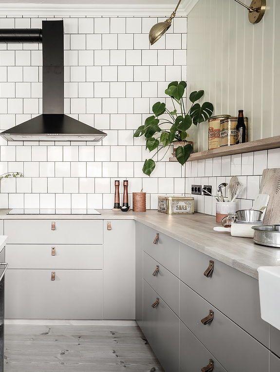 Cozy Kitchen With A Touch Of Green Coco Lapine Design Scandinavian Interior Kitchen Swedish Kitchen Kitchen Design