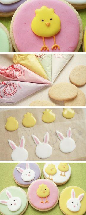 Cómo hacer galletas para Pascua de colores