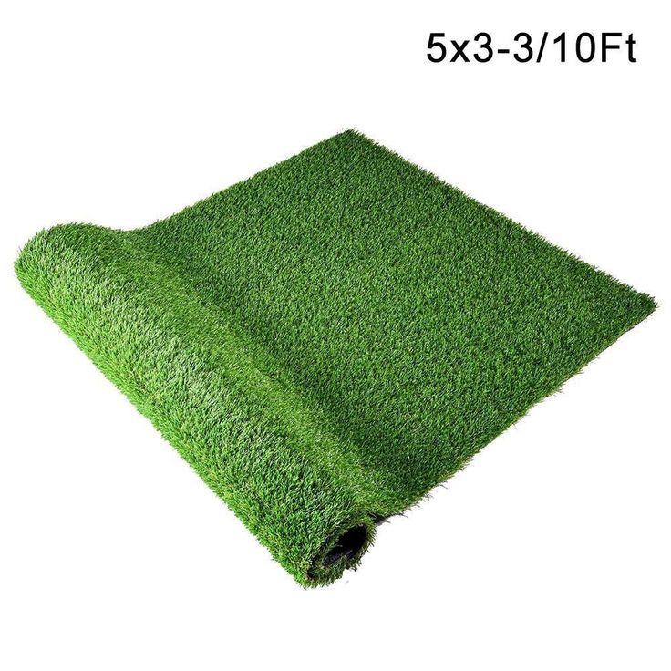 2ft/ 5ft Optional 4-Tone Artificial Grass Rug Pet Turf Drain Hole #artificialgrass
