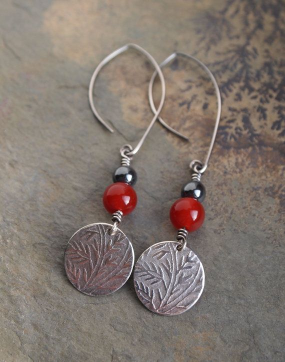 Silver Earrings Handmade Aventurine Dangly Gift For Her Embossed Jewelry On Etsy