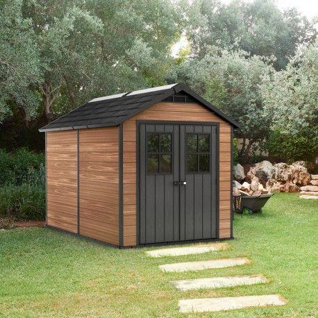 Abri De Jardin Composite Gris Fonce 9m Porte Alu Woodlife Construire Abri De Jardin Abri De Jardin Abri De Jardin Composite