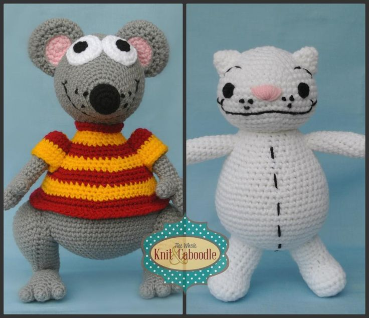 Toopy and Binoo Pattern combo pack available on Craftsy!