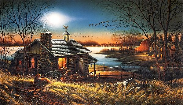 Fall Harvest Wallpaper 1024x768 Pure Contentment Quot By Terry Redlin Terry Redlin Home