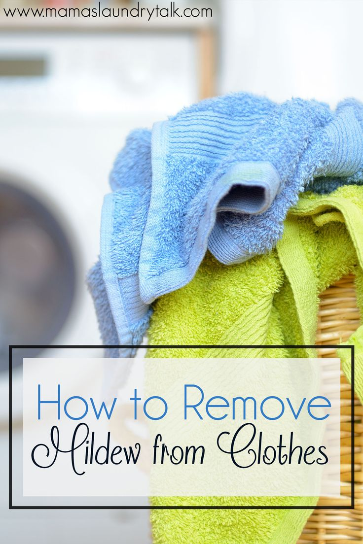 It can be TOUGH to remove mold and mildew stains from clothes. Here's a list of ideas to help you get rid of those unsightly stains.