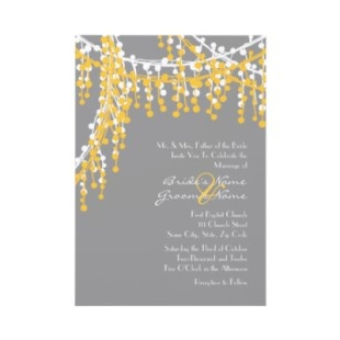 This is a gold version of the one we looked at!  rehersal din modern wedding invitation