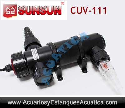 Sunsun cuv 111 esterilizador uv c 11w acuarios estanques for Accesorios para estanques