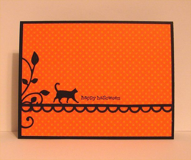 CAS237 ...when black cats go walking by donidoodle - Cards and Paper Crafts at Splitcoaststampers