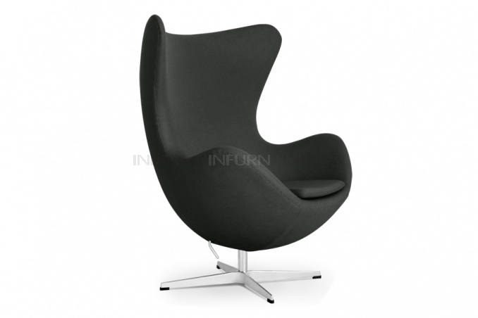 Egg Chair inspired by Arne Jacobsen $659 free shipping in a charcoal heather grey