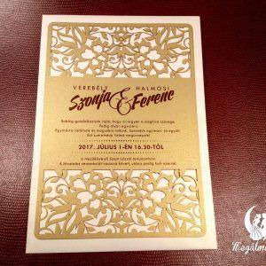 Exkluzív nagy virágos lézervágott esküvői meghívó  #lézervágott #esküvői #meghívó #esküvőimeghívó #lasercutting #wedding #weddinginvitations #flowers