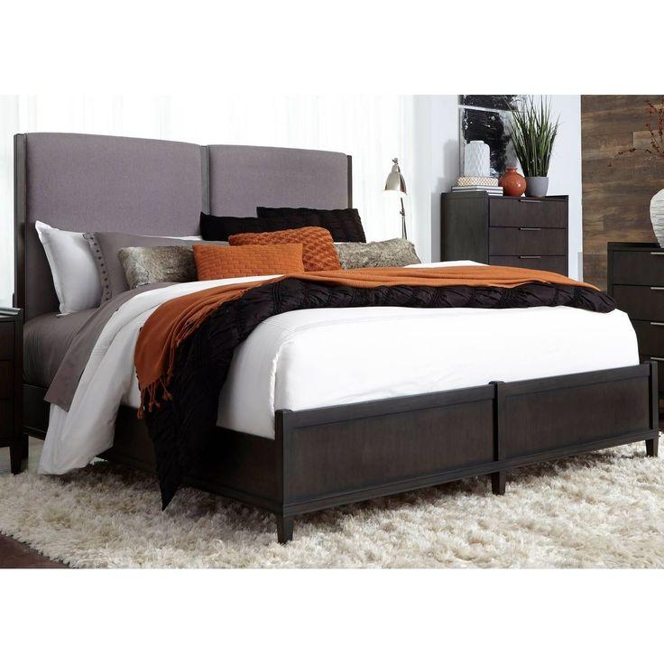 Liberty Tivoli Satin Charcoal Uphosltered Low Profile Bed