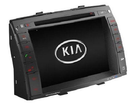 Штатная автомагнитола для Киа Соренто. Автомобильный мультимедийный комплекс с GPS навигацией размером 2 DIN. Для штатной установки в  Kia Sorento (2010-2012). Купить и установить в интернет магазине КомБез-Авто в Москве.